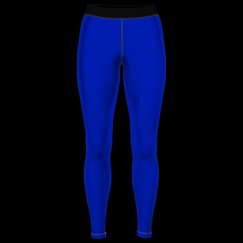 Тайтсы женские компрессионные синий