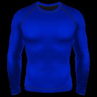 Компрессионный рашгард (лонгслив) синий в Новосибирске