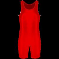 Борцовское трико красный однотон
