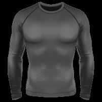 Компрессионный рашгард (лонгслив) серый