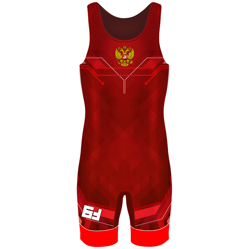 Детское Борцовское трико Vektor красный