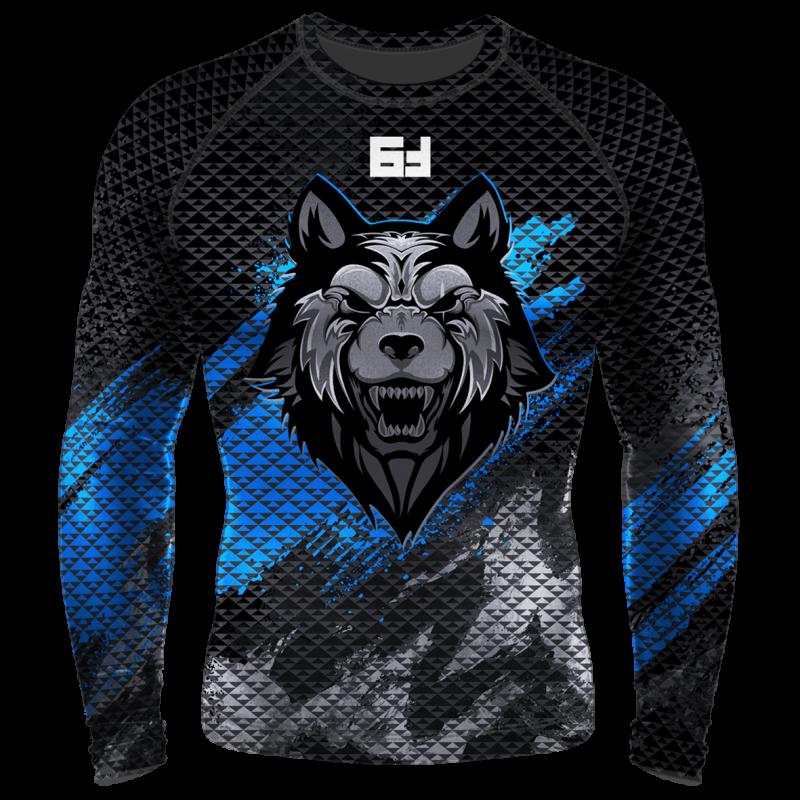 Детский Компрессионный рашгард (лонгслив) Beast Волк