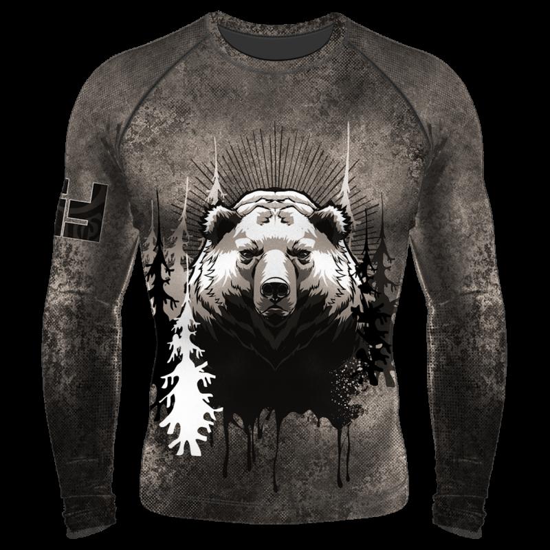 Детский Компрессионный рашгард (лонгслив) Beast Медведь