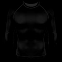 Компрессионный рашгард (лонгслив) чёрный в Новосибирске