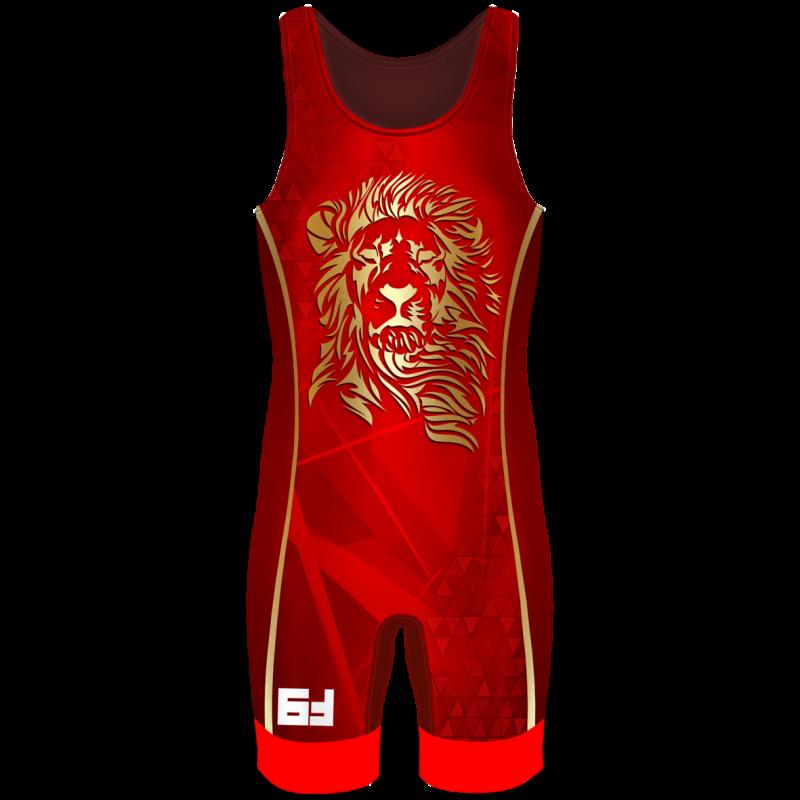 Борцовское трико Lion красный